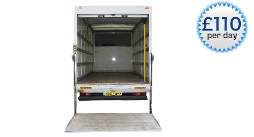 An image showing the inside of a Luton Body Van With Tail Lift.