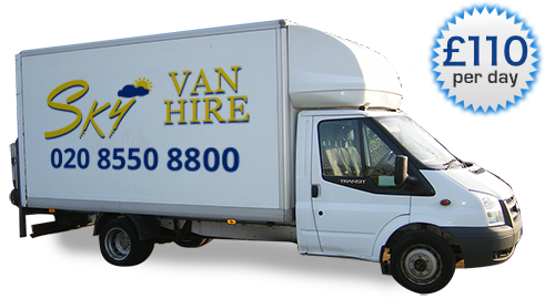 An image showing a Luton Body Van With Tail Lift.