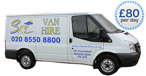 An image showing a white short wheel based van and the price.