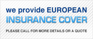 An image showing European insurance cover offered by Sky Van Hire.